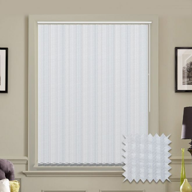 Vertical blinds - Made to Measure vertical blind in Rossini White - Just Blinds